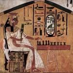 Queen Nefertari playing Senet