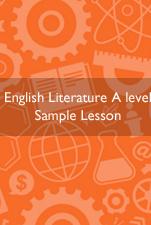 A Level English Literature?