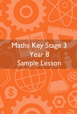 Cover Image for Maths Sample Lesson KS3 Year 8