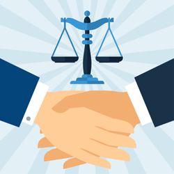 Law scales and Contractual Handshake