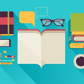 vector Image of English students desk