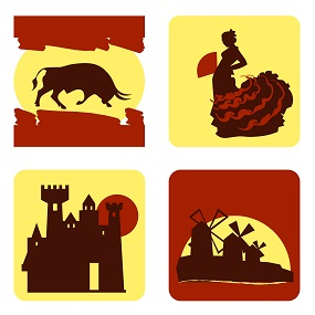 Tiled Image with Spanish concepts